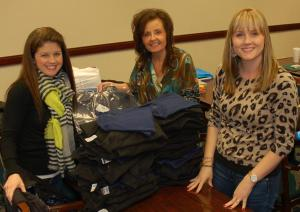 (Left to right) Kelli McDowell, Lynn Elvis and Jessie Hendrick joined other members of Women Involved in Rural Electrification (WIRE) from co-ops across the state to collect items for the Co-op Closet. The special program, a collaboration with the Lieutenant Governor's Office on Aging, assists displaced elderly people.