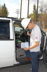 Mitchell Benton, distribution engineer for Horry Electric, worked closely with crews during the last multi-day planned outage in March.