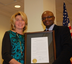 The new Rural Lady received a framed copy of a legislative resolution honoring her from state Sen. Kent M. Williams (Dist.30), who represents Dillon, Florence, Horry, Marion and Marlboro counties.
