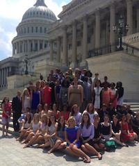 2014 Youth Tour delegates from SC with Sen. Lindsey Graham