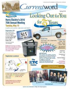 Current word advertisement for Annual Meeting 2016