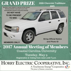 ANNUAL MEETING GRAND PRIZE