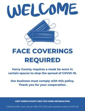 Horry County face masks